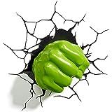 3D Light Fx Lampada LED 3D Philips-Pugno di Hulk-Marvel-Barcode 8718696124185/3181860101537, Verde, 15 x 13 x 14 cm