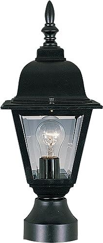 Maxim 3006CLBK, Builder Cast Outdoor Post, 1-Light 100 Total Watts, Black