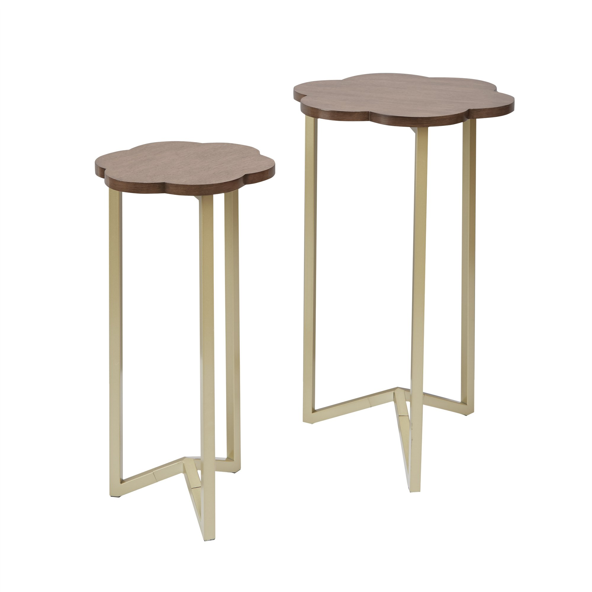 Silverwood FT1263-GLD-RGR Daphne Nesting Accent Tables (2pc), 17'' DIA x 27'' H by Silverwood (Image #3)