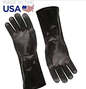 Artisan Griller Redefining Outdoor Cooking BBQ Heat Resistant Insulated Smoker, Grill, Fryer, Oven, Cooking Gloves. Barbecue/Frying/Grilling – Waterproof, Oil Resistant -1 pair (Size 10/XL - Fits Most