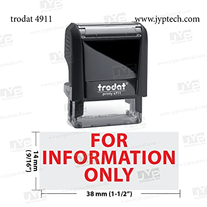 For Information Only JYP 4911 Self Inking Rubber Stamp