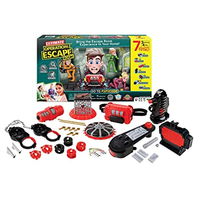 Spy Code Ultimate Operation Escape Room with 3 Original Challenges Plus 4 New Challenges for More Fun & Excitement, Search Solve & Escape Now!, Clear: Toys & Games