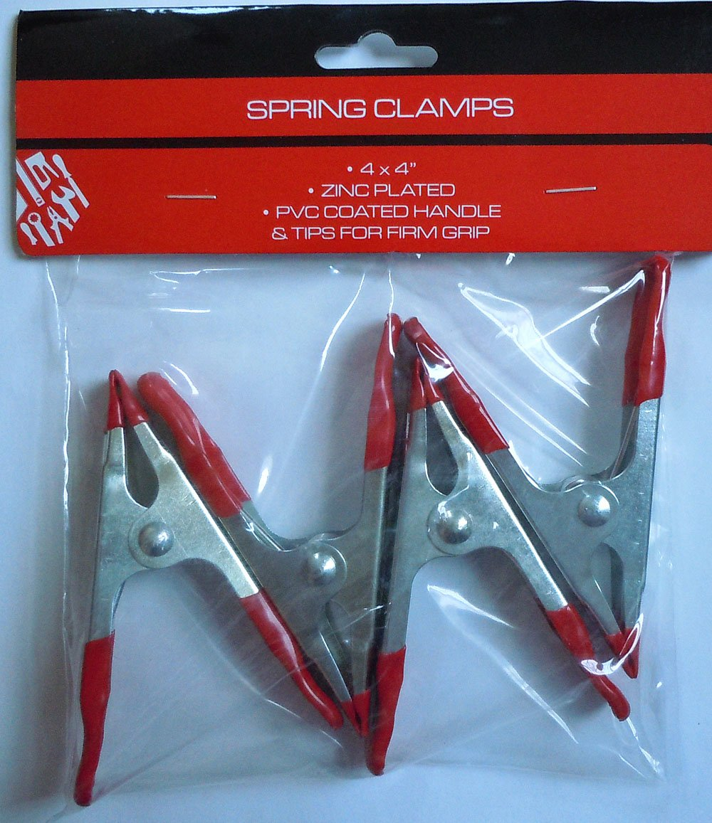 PVC Coated Spring Clamps Regent G09355 4 Zinc Plated 8 Pack
