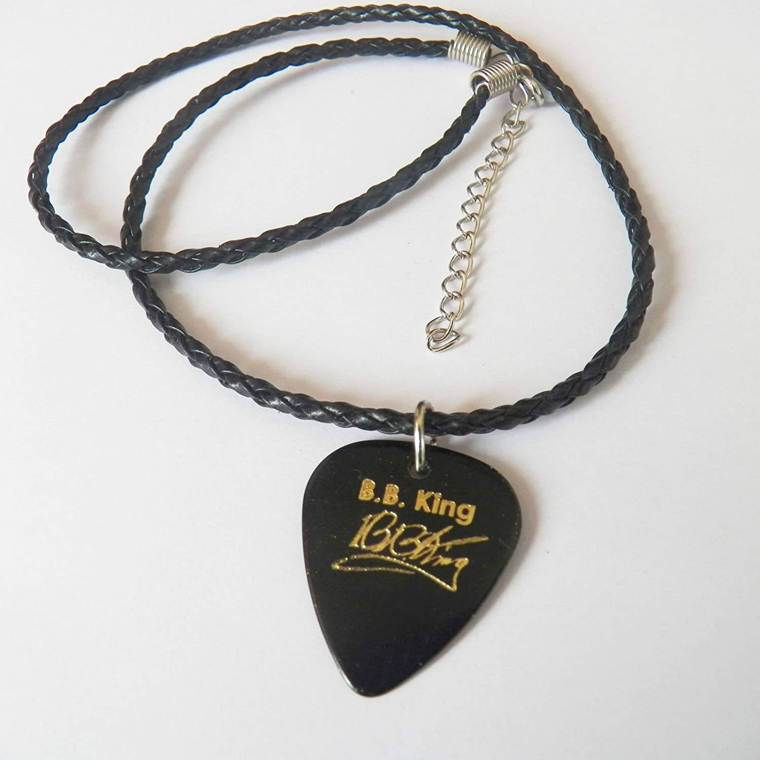Bbking B.B. King púa de guitarra, firma oro estampado, 18