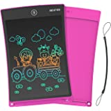 NEWYES Newest 8.5 Inch Doodle Board Colorful Version LCD Screen Writing Tablet Magnetic Drawing Board Erasable Doodles Notepad for Ages 3+ Pink