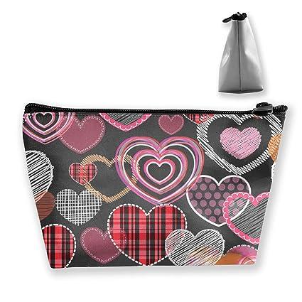 d05b9113058c Amazon.com: Wpipbag Valentine's Day Romantic Women's Makeup Bag ...