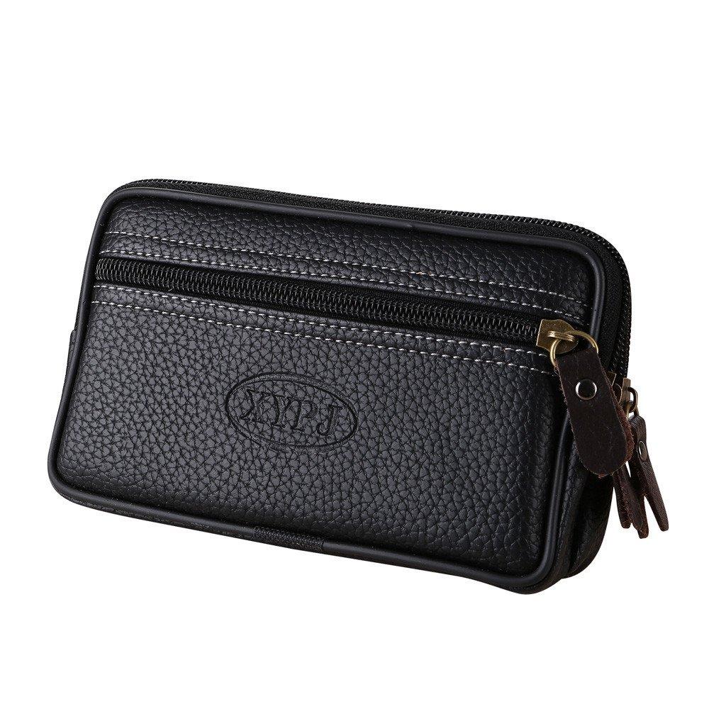 Men's Wallets,Men Pure Vintage Handbag Messenger Bags Coin Bag Phone Bag