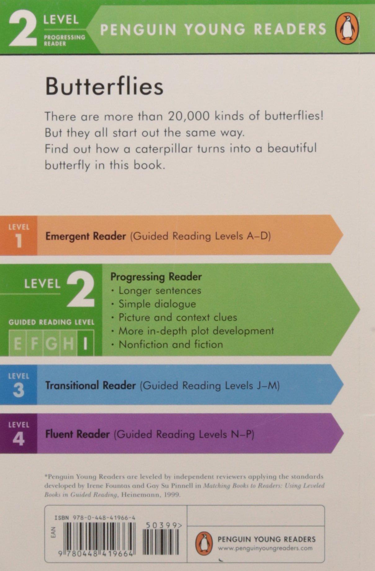 Amazon: Butterflies (penguin Young Readers, Level 2) (9780448419664):  Emily Neye, Ron Broda: Books