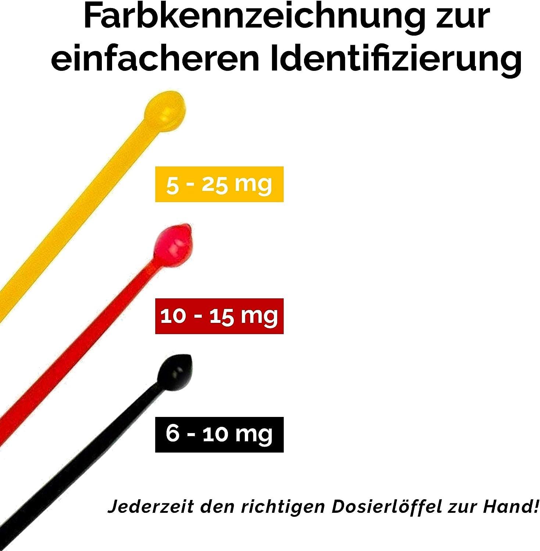 z.B. Nahrungserg/ängzungsmittel mg Messl/öffel BPA-frei Mikro Dosierl/öffel MICRO SCOOP schwarz 6-10 mg antistatisch f/ür das exakte Dosieren kleinster Mengen von Pulverprodukten