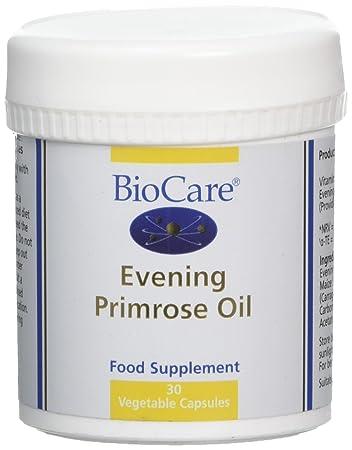 biocare evening primrose oil 30 x 1000mg vegicaps amazon co uk