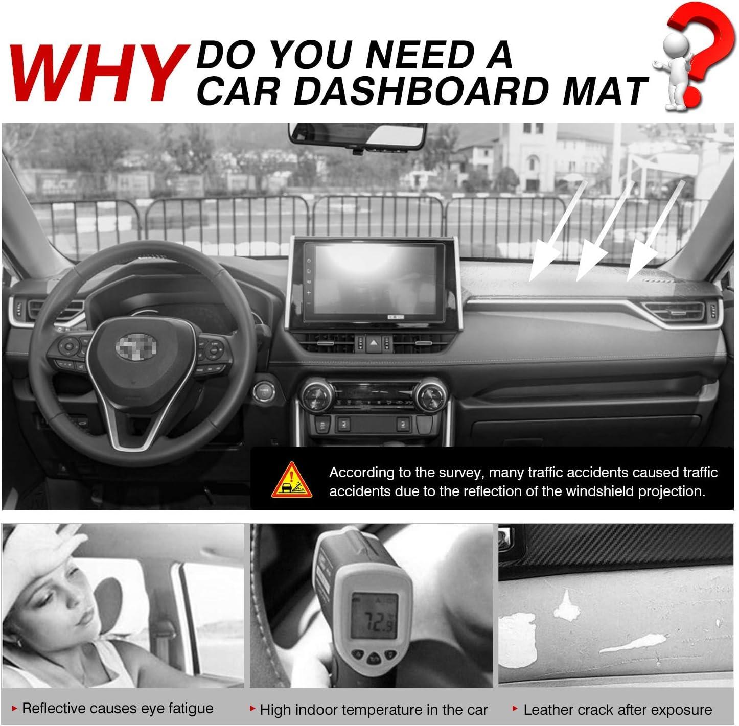 Cartist RAV4 Dashboard Mat Cover Dash Cover Nonslip Dashboard Mat Protector Sunshade No Glare for Toyota RAV4 2019 2020