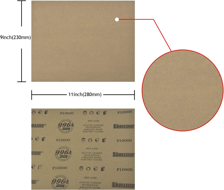 9 x 11 SC 240 grit 100 Sanding sheets Sander Dri Lube Sand Paper Silicon Carbide