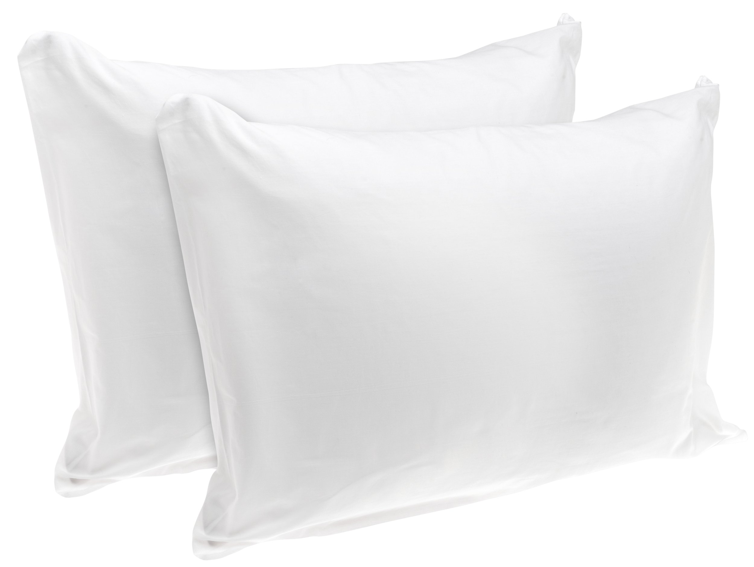 American Textile Rest Right 100% Cotton Zippered Pillow Protectors, Set of 2 - Zippered Pillow Covers Extend Pillow Life, Keeping Pillows Fresh and Clean, Standard/Queen Sized