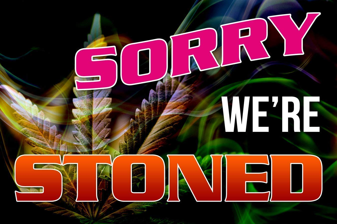 Sorry We are Stoned Poster