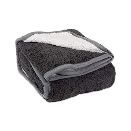 Image Unavailable. Image not available for. Color  Plush Reversible Sherpa Fleece  Throw Blanket ... 7e48fccde