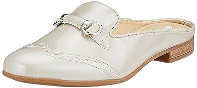 Geox Damen D Marlyna E Pantoffeln, Beige (Cream), 40 EU