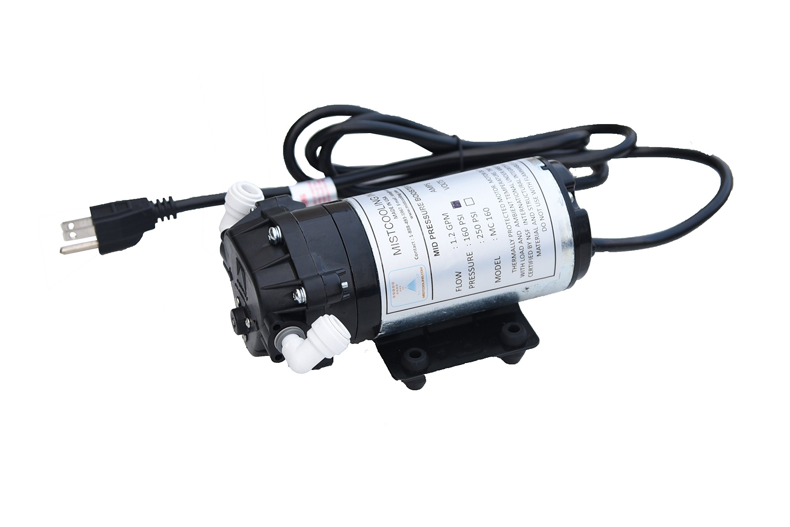 160 PSI Booster Pump | Mid Pressure Misting Pump | Can be used for Fan Misting System and Line based Misting Systems (110V AC) by Mistcooling (Image #1)