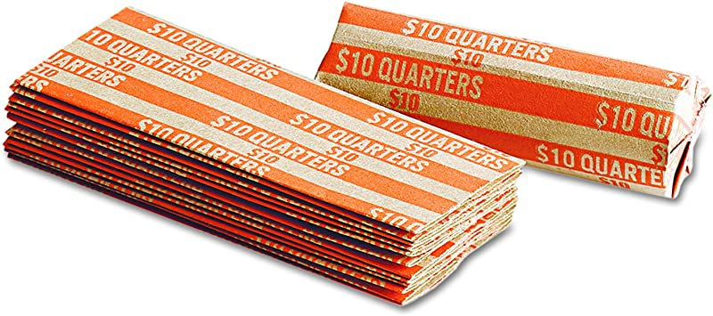 Tubes for Quarters Pop-Open 2000 Pack Quarter Flat Paper Coin Wrappers