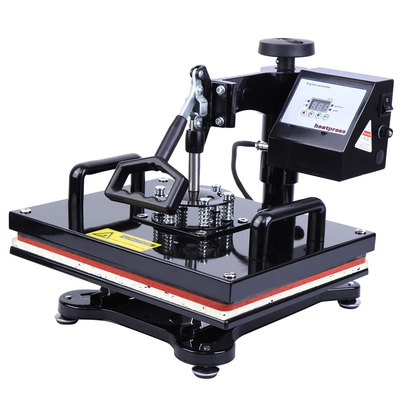 XuanYue Heat Press Machine 12×15 Multifunctional Swing Away Digital Sublimation Heat Pressing Transfer Machine with LCD Display for T Shirt, Hat, Mug, Cap, Plate and More