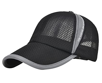 4d699191e40 Cool Mesh Cap Baseball Cap Hat Quick Dry Sun Cap Mesh Snapback Hat  Adjustable Sport Baseball