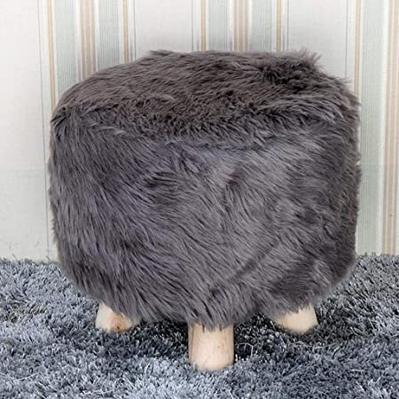 5 Size Choose Furry Round Stool Cover Little Chair Slipcover