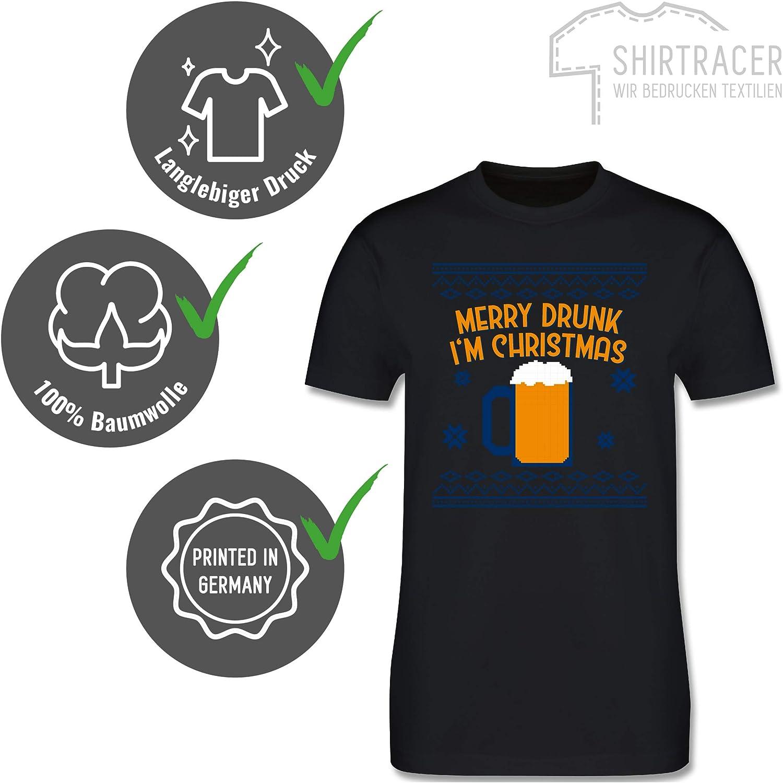 Merry Drunk Im Christmas Spruch Ugly Christmas Sweater Weihnachten Frauen Bio-Sweatshirt von Stanley /& Stella