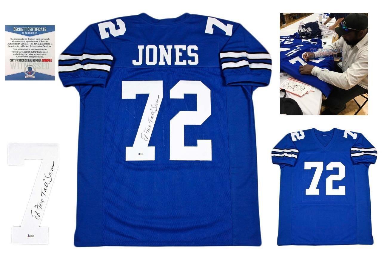 best website 5e4db 56792 Signed Too Tall Jones Jersey - Ed Custom Beckett w Photo ...