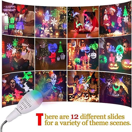 Proyector LED, Innoo Light Lámpara de Halloween Navidad decoración ...
