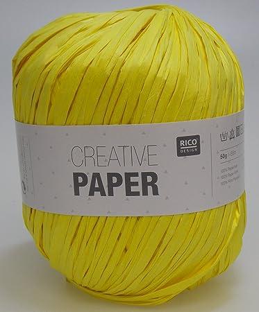 Rico Design Creative Paper Zum Häkeln Von Homedeko 50 G 02 Gelb