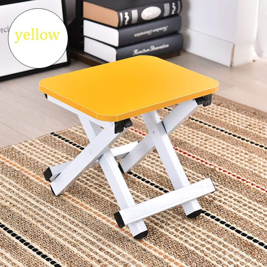 HaoLu Multifunctional Folding Chair Solid Wood Thick Non-Slip Portable Stool Save Space Rest Bench Suitable For Barbecue, Beach And Garden Green,Blue Yellow