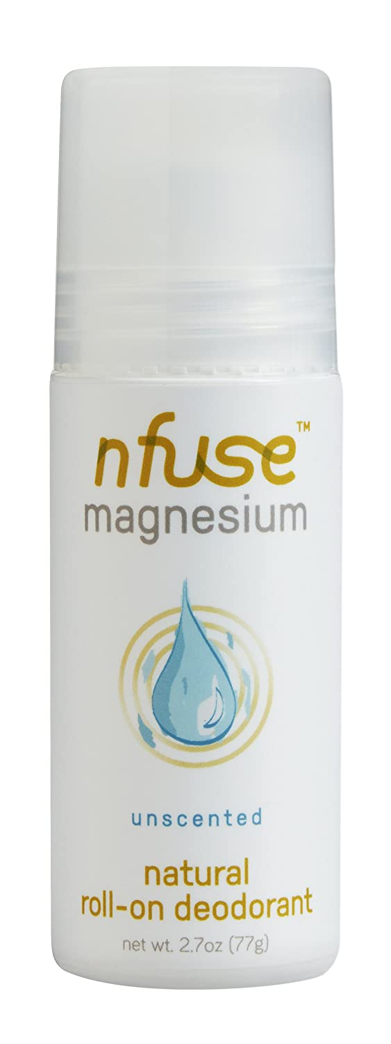 nfuse Natural Magnesium Roll-on Deodorant - Innovative Patented Magnesium Technology - Ultra Nourishing - Fragrance Free - Aluminum Free - Unscented: Calm + Replenish