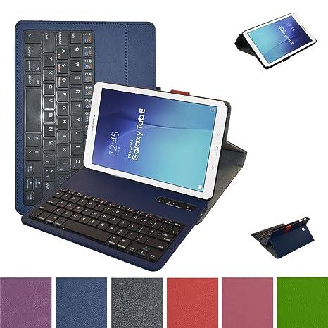 Samsung Galaxy Tab E 9.6 Bluetooth teclado Funda,Mama Mouth DETACHABLE Bluetooth teclado teclado (teclado QWERTY ...
