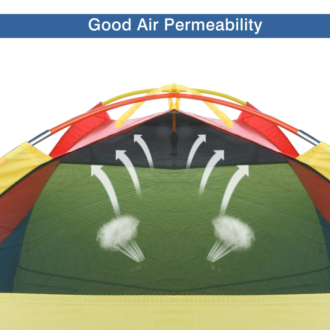 """Large Space Large Space/& Rainbow Color Indoor//Outdoor Children Playhouse for Boys Girls Children Camping Playhouse 60/""""x60/""""x47/"""" MountRhino Kids Play Tent /& Playhouse,Kids Pop Up Tent"""