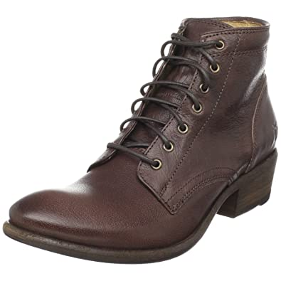 FRYE Women's Carson Lace-Up Boot, Dark Brown, ...