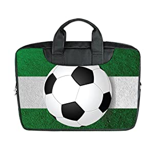 INSTALL AND EASY TO CARRY Wear& Slim &Dapper Soccer Custom Waterproof Nylon Bag for Laptop 15 Inches(Twin sides)