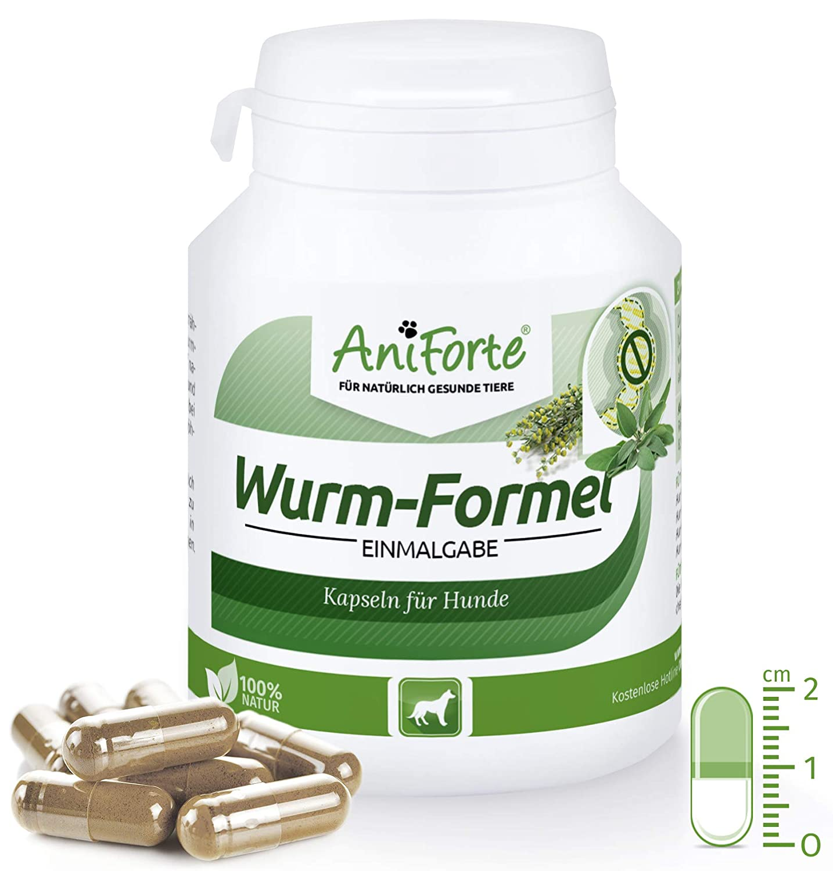 AniForte Formule de Ver 100 Comprimés pour Chiens, Naturel et Efficace, Aux actifs naturels de plantes Görges Naturprodukte GmbH