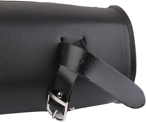 Bolsa Estuche Almacenaje de Herramienta Cuero Artificial Negro para Motos Harley