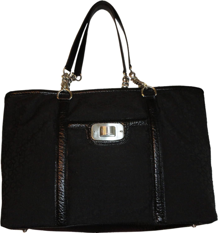 Womens DKNY Purse Hobo Handbag Town and Country Turnlock Shopper Black//Black