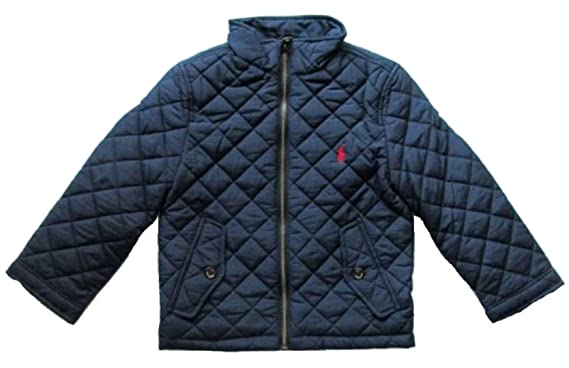 e36cf68e75a4 Polo Ralph Lauren Boys Barn Jacket Kids Toddler Quilted Coat Blue Navy HG15  (8 YEARS)  Amazon.co.uk  Clothing