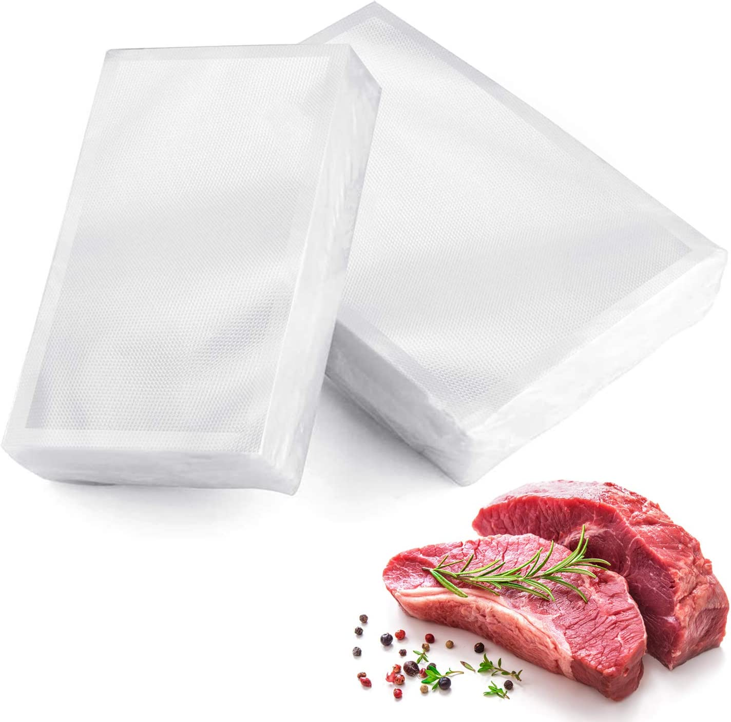 150 Vacuum Sealer Bags, Tobeelec 100 Quart Size 8 x 12 inch and 50 Pint 6x10 inch for Food Saver, Seal a Meal, BPA Free Heavy Duty Sous Vide Vac Seal PreCut Storage Bags