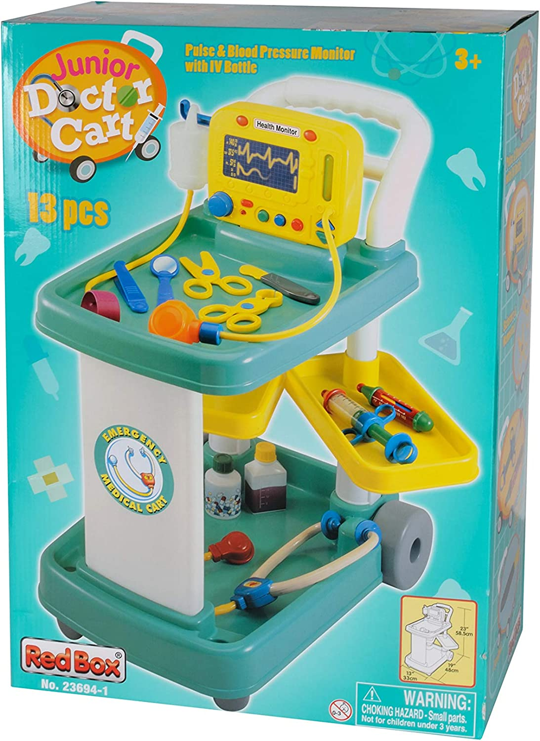 Constructive Playthings Deluxe Doctor Cart Playset