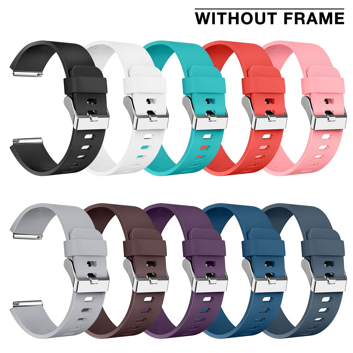 AIUNIT Compatible Fitbit Blaze Bands Small, Replacement for Fitbit Blaze Accessories Wristband Watch Sport Strap for Fitbit Blaze Smart Tracker Women Men Teends Stripe Texture 10 Pack No Tracker