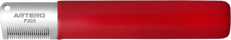 Artero. Cuchilla Japonesa de Stripping para Zurdos (Rojo-Diente Fino)