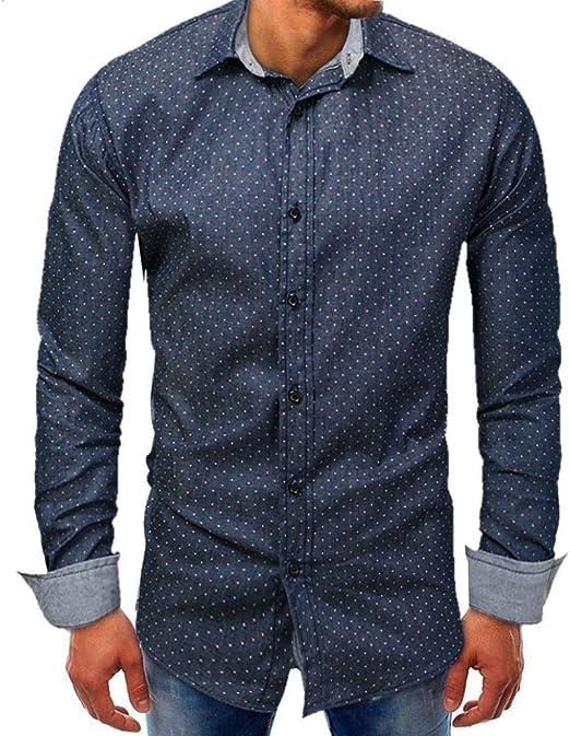 HhGold Azul Marino Camisas para Hombre Top Slim Fit Casual Manguito Manga Larga Pokal Puntos Patrón Personalizado Cuello V Botón Algodón Reino Unido Inglaterra Inglaterra Blusa XXL XXXL: Amazon.es: Hogar