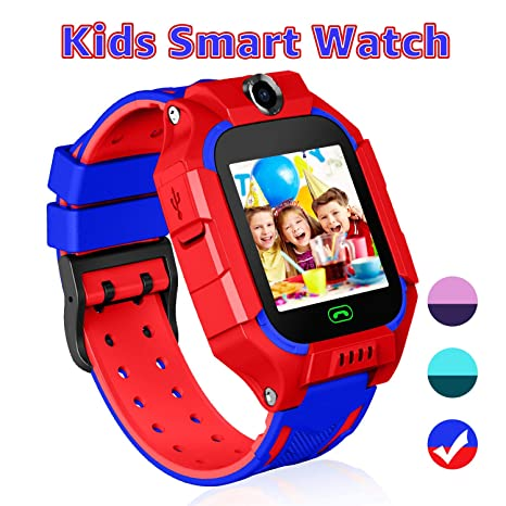 Kid Smart Watches with Games,Waterproof Children Smartwatch Phone SOS Anti-Lost Voice Chat Camera Alarm Clock Quick Dial Flashlight Contacts for 3-4 ...