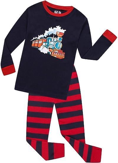 77afa0138e Boys Train Pajamas Christmas Children Pjs for Kids Sleepwear Pants Set Size  5