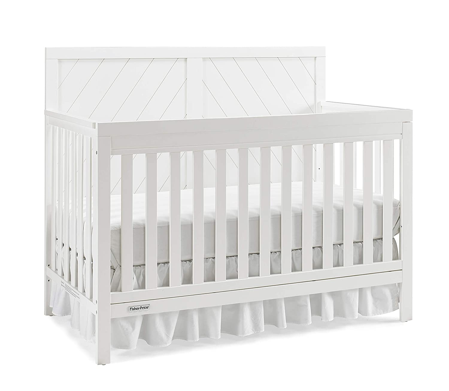 Frost White Fisher-Price Glendale 4-in-1 Convertible Crib