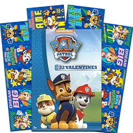 Amazon.com: Patrulla Canina 32 Valentines, Paw Patrol ...