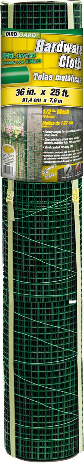 Midwest Air Technologies G and B 308259B 36-Inch X 25-Foot Green 1/2-Inch Zinc Coated Mesh Garden Cloth
