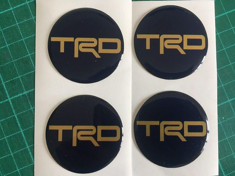 4 Unidades Pegatinas para el Centro de la Rueda de aleaci/ón de Toyota TRD Scotby Designs Color Azul y Dorado